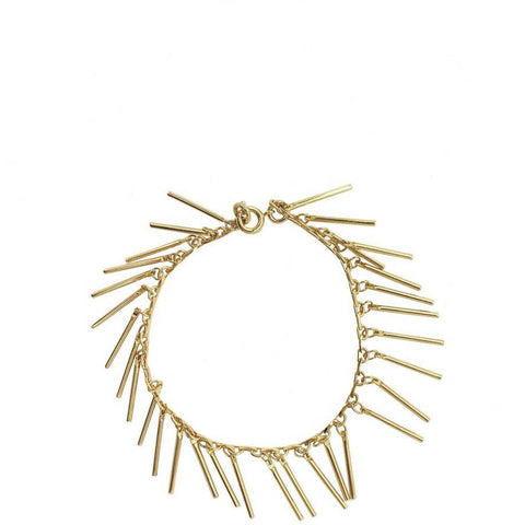 MALAIKARAISS Vergoldetes Armband mit Fransen für Damen | Schmuck, Gold, Fair-Fashion, Handgefertigt in Deutschland - the wearness Online-Shop