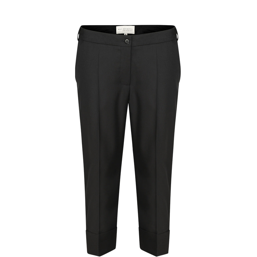 MAY BERNARDI Schwarze Hose mit klassischer Bügelfalte für Damen, made in Europe, fair, organic, eco-friendly - the wearness online-shop