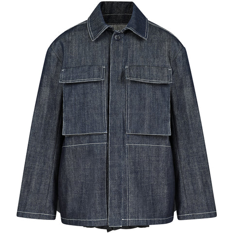 MAY BERNARDI Oversized Denim-jacket für Damen, made in Europe, fair, organic, eco-friendly - the wearness online-shop