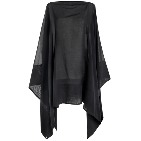 Casa Nata – Schwarzer Poncho Split Cover Black  – The Wearness