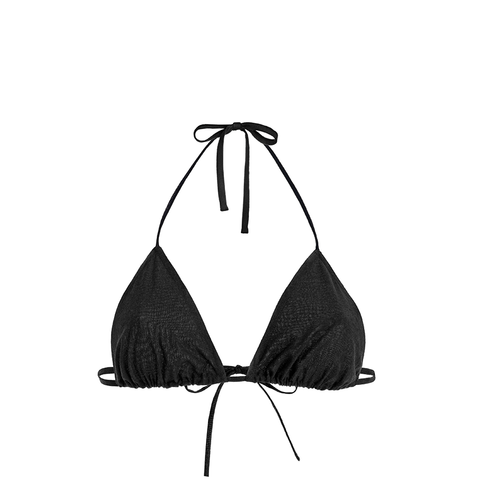 Casa Nata - Triangel Bikini Top in schwarz - The Wearness