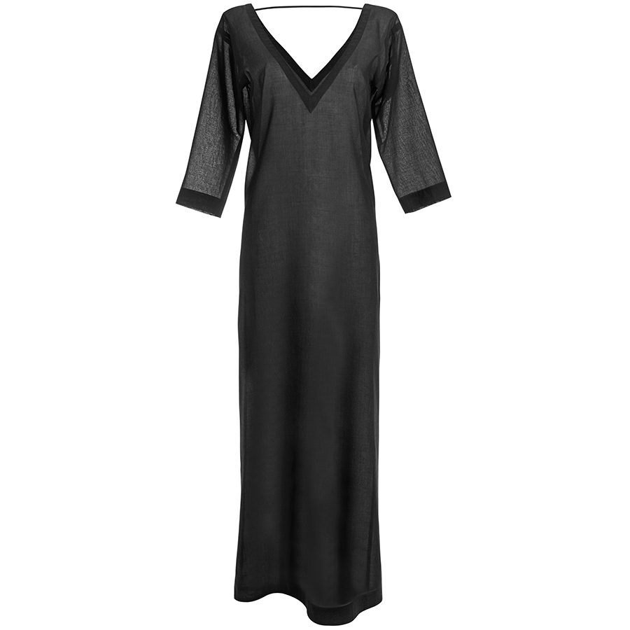 Casa Nata – V-Dress Kleid in schwarz – The Wearness