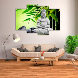 "4 Pieces Decorative 3D Painting ""Inspiring Buddha"""