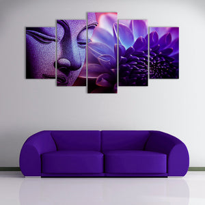"5 Pieces Decorative 3D Painting ""Buddha Enlightenment"""