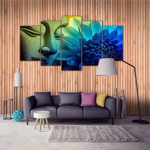 "5 Pieces Decorative 3D Painting ""Buddha Introspection"""