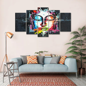 "5 Pieces Decorative 3D Painting ""Buddha's Force"""