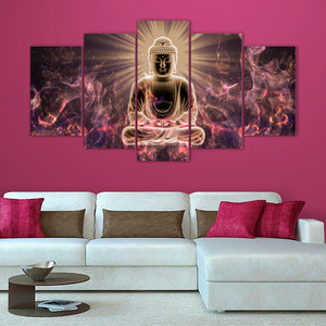 "5 Pieces Decorative 3D Painting ""Divine Buddha"""