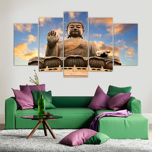 "5 Pieces Decorative 3D Painting ""Buddha Statue"""