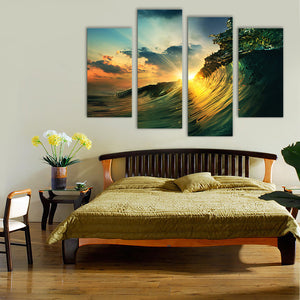 "4 Pieces Decorative 3D Painting ""Rise of the Tide"""