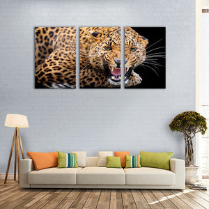 "3 Pieces Decorative 3D Painting ""Leopard's Teeth"""