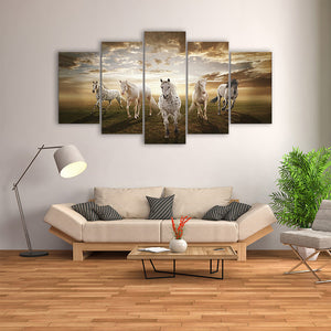 "5 Pieces Decorative 3D Painting ""Heavenly Horses"""