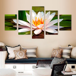 "5 Pieces Decorative 3D Painting ""Water Lily"""