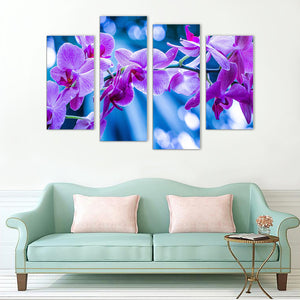 "4 Pieces Decorative 3D Painting ""Light Pink Orchid"""