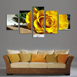 "5 Pieces Decorative 3D Painting ""Yellow Lily"""