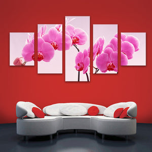 "5 Pieces Decorative 3D Painting ""Pink Orchid"""