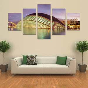 "5 Pieces Decorative 3D Painting ""Valencia Science City"""