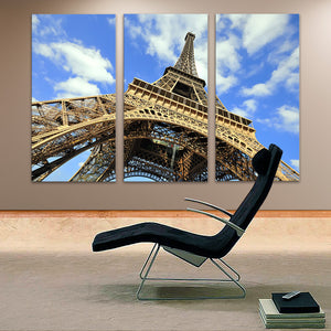 "3 Pieces Decorative 3D Painting ""Eiffel Tower's Height"""