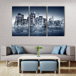 "3 Pieces Decorative 3D Painting ""View of Brooklyn"""