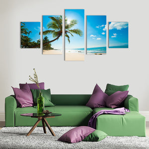 "5 Pieces Decorative 3D Painting ""Exotic Beach"""