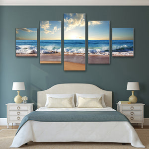 "5 Pieces Decorative 3D Painting ""Sun in the Horizon"""