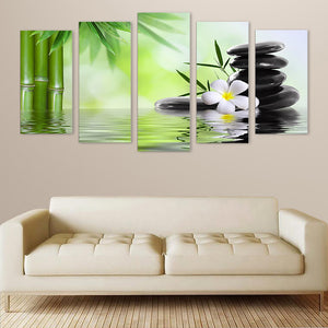 "5 Pieces Decorative 3D Painting ""Equilibrium Stones"""