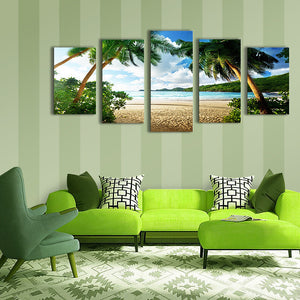 "5 Pieces Decorative 3D Painting ""Tropical Beach"""