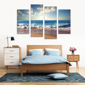 "4 Pieces Decorative 3D Painting ""Fresh Morning"""
