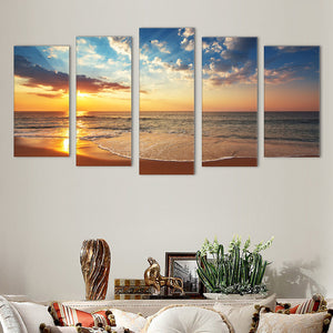 "5 Pieces Decorative 3D Painting ""Tranquility Sunset"""
