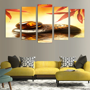 "5 Pieces Decorative 3D Painting ""Amber Warmth"""
