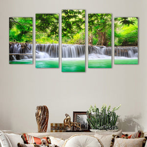 "5 Pieces Decorative 3D Painting ""Lake of Happiness"""