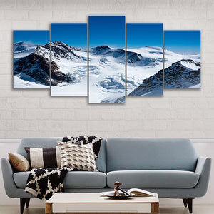 "5 Pieces Decorative 3D Painting ""Covered Mountain"""