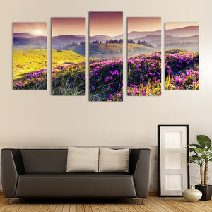 "5 Pieces Decorative 3D Painting ""Valley of Prosperity"""