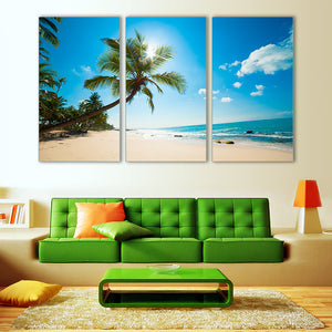 "3 Pieces Decorative 3D Painting ""Paradise Beach"""