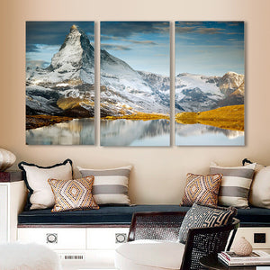 "3 Pieces Decorative 3D Painting ""Spring in the Mountains"""