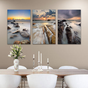 "3 Pieces Decorative 3D Painting ""Foggy Waters"""