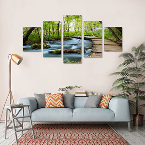 "5 Pieces Decorative 3D Painting ""Peaceful Pathway"""
