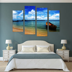 "4 Pieces Decorative 3D Painting ""Discoveries Boat"""