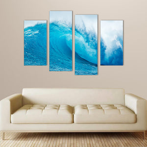 "4 Pieces Decorative 3D Painting ""Big Sky-Blue Wave"""