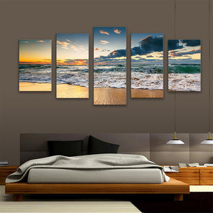 "5 Pieces Decorative 3D Painting ""Sunset Ending"""