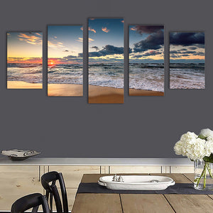 "5 Pieces Decorative 3D Painting ""Fragmented Dawn Clouds"""