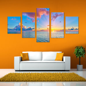 "5 Pieces Decorative 3D Painting ""Dawn Sun-Rays"""