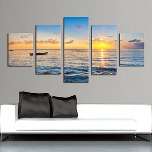 "5 Pieces Decorative 3D Painting ""Morning Calmness"""