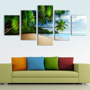 "5 Pieces Decorative 3D Painting ""Tropical Shore"""