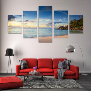 "5 Pieces Decorative 3D Painting ""Tropical Morning"""