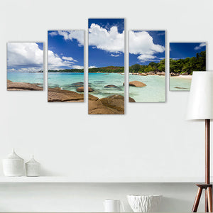 "5 Pieces Decorative 3D Painting ""Tropical Golf"""