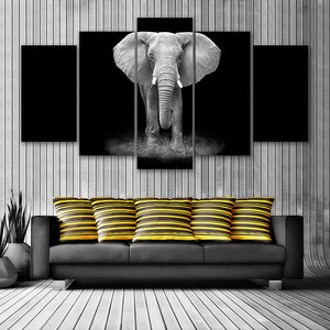 "5 Pieces Decorative 3D Painting ""The Last Elephant"""