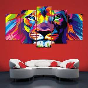"5 Pieces Decorative 3D Painting ""Lion's Awareness"""
