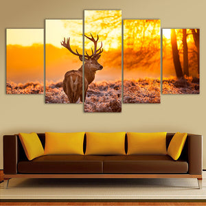 "5 Pieces Decorative 3D Painting ""The Sad Deer"""