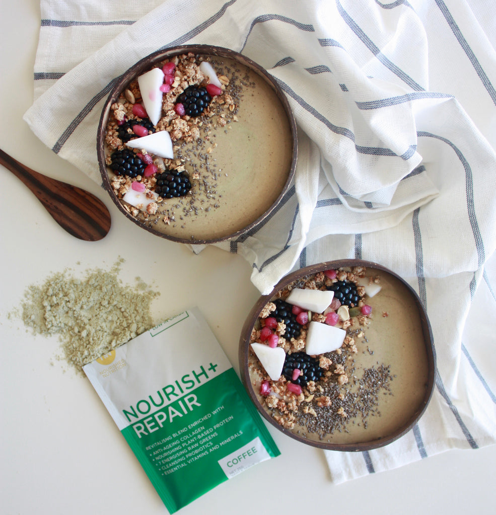 Cold Brew + Almond Energizing Smoothie Bowl