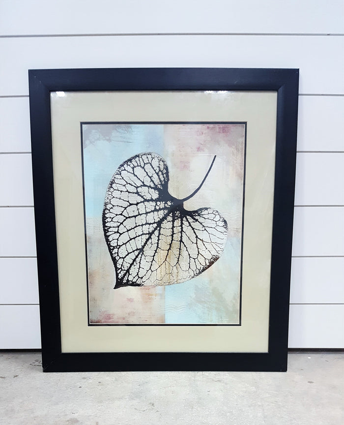 Black Frame leaf print sale
